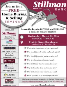 home buying selling seminar flyer stillman bank