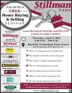 rhl home buying selling seminar flyer stillman bank
